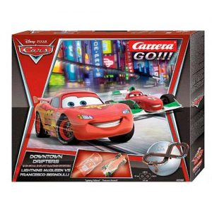 DISNEY/PIXAR CARS DOWNTOWN DRIFTER 1/43 SLOT CARRERA GO RACING SET